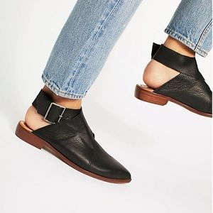 Free People || Bryce Leather ankle wrap mules